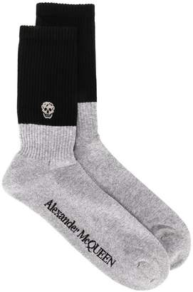 Alexander McQueen colour block socks