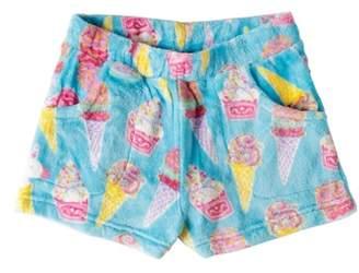 Candy Pink Ice Cream Fleece Pajama Shorts