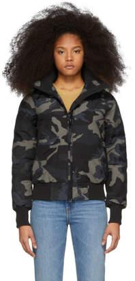 Canada Goose Black Black Label Camo Down Savona Jacket