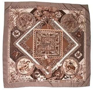 Hermes Le Jardin Des Coptes Cashmere Silk Scarf