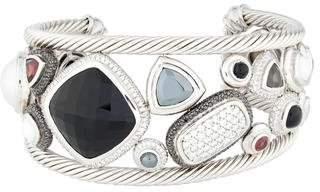 David Yurman Multistone & Diamond Mosaic Cuff