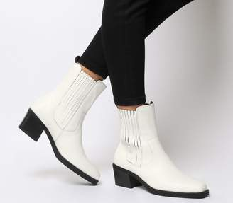 Vagabond Simone High Chelsea Boots White Leather
