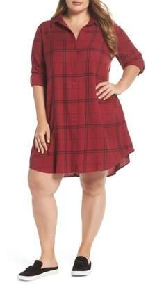 BP Plaid Shirt Dress