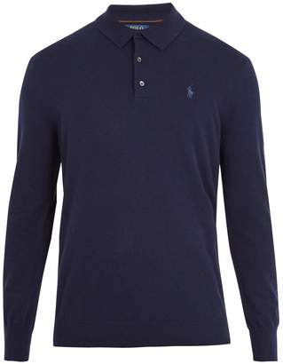 Polo Ralph Lauren Half-button logo-embroidered cashmere sweater
