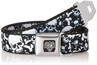 Buckle-Down Men's Seatbelt Belt Skulls Kids