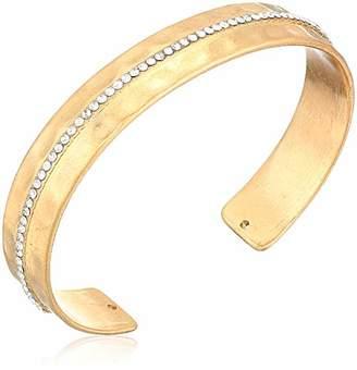 Panacea Women's Crystal Hammered Cuff Bracelet