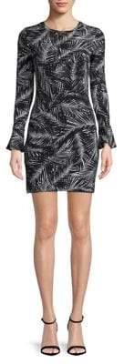 MICHAEL Michael Kors Palm Leaves-Print Sheath Dress