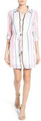 Women's Kut From The Kloth Adyson Tie Waist Shirtdress $88 thestylecure.com