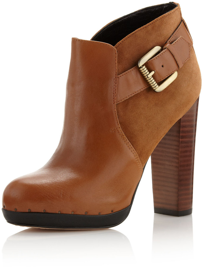 Sam Edelman Lulu Suede-Leather Ankle Boot, Whiskey