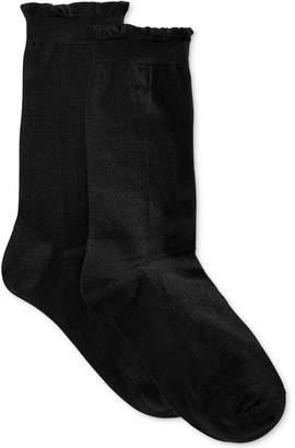 Hue Women's Solid Femme Top Sock