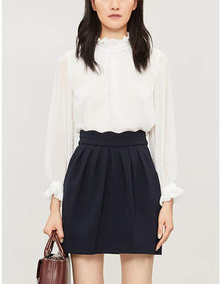 Claudie Pierlot Victorian collar satin shirt