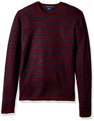 French Connection Men's 2/48's Double Stripe Sweater