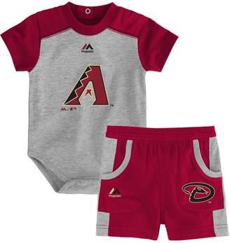 Majestic Baby Arizona Diamondbacks Double Header Bodysuit & Shorts Set