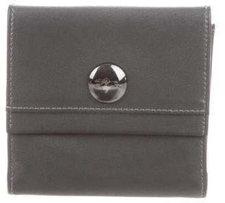 Longchamp Leather Bi-Fold Wallet
