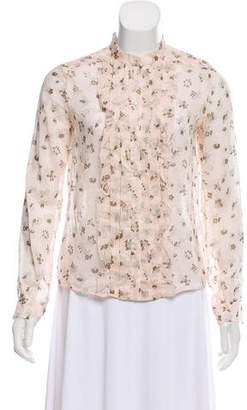 Cacharel Floral Button-Up Top