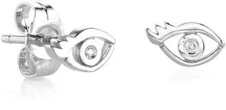 Sydney Evan Syd by Shy by SE Evil Eye Diamond Stud Earrings