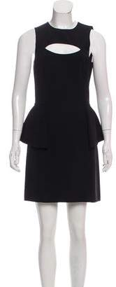 Michael Kors Cutout Peplum Dress