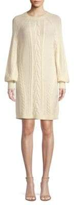 Polo Ralph Lauren Aran Cable-Knit Wool Shift Sweater Dress