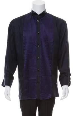 Versace Silk Tuxedo Shirt