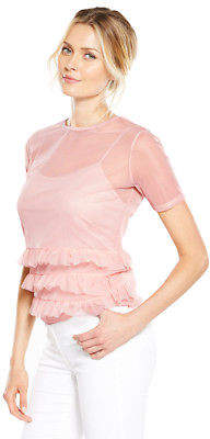 Very Mesh Frill Top