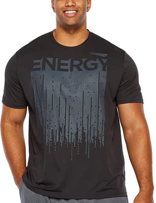 COPPER FIT Copper Fit Mens Crew Neck Short Sleeve Graphic T-Shirt-Big and Tall