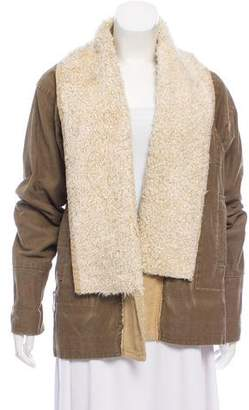 Dries Van Noten Corduroy Faux-Shearling Jacket
