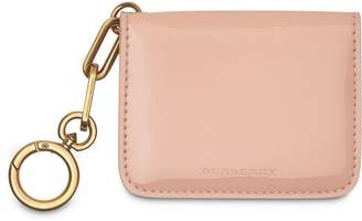 Burberry Link Detail Patent Leather ID Card Case Charm