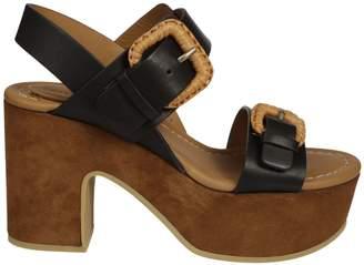 See by Chloe Buckle Wedge Sandals