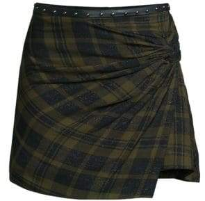 Ramy Brook Dana Wool-Blend Mini Skirt