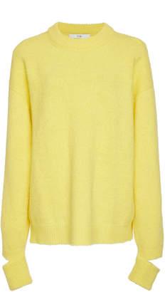 Tibi Airy Spliced Sleeve Alpaca Sweater