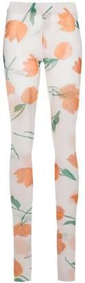 Ganni Tilden Tulip Sheer Leggings