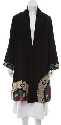 Roberta Freymann Embroidered Long Coat
