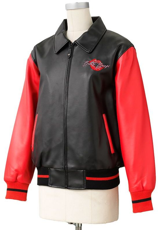 Betty Boop Excelled faux-leather letterman jacket