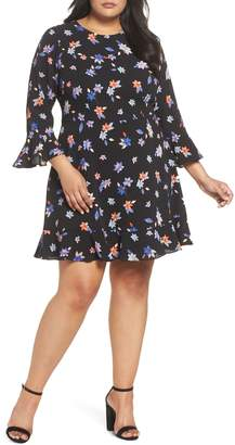 Eliza J Floral Ruffle Sheath Dress