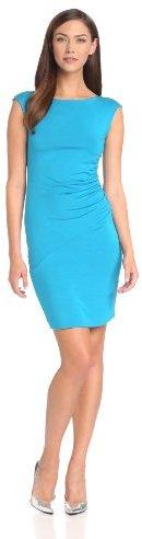 Michael Stars Women's Short-Sleeve Wide-Neck Scoop-Back Dress