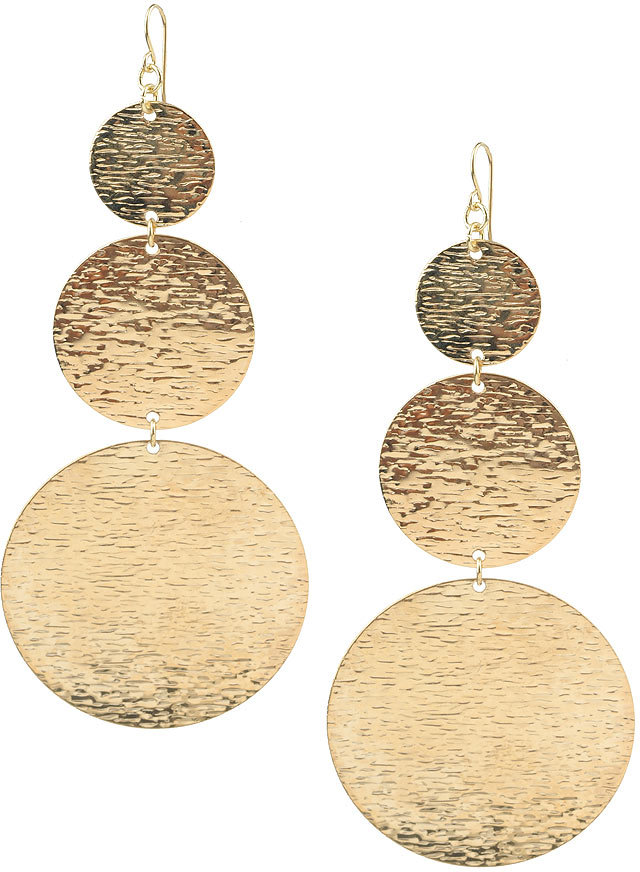 Triple Textured Disc Earrings