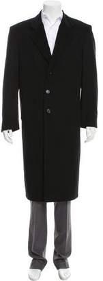 Burberry Wool-Cashmere Notch-Lapel Overcoat