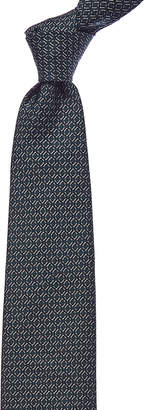 Brioni Teal Diamond Silk Tie