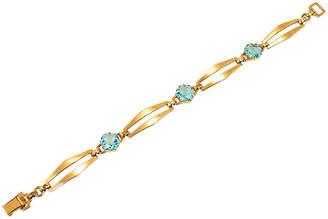 One Kings Lane Vintage 12K GF Sterling Aqua Crystal Bracelet