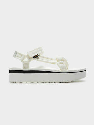 Teva New Womens Flatform Universal Sandals In Bright White Womens