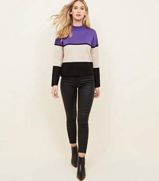 New Look Black Coated High Waist Skinny Yazmin Jeans
