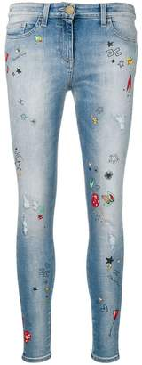 Elisabetta Franchi printed skinny jeans