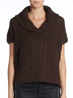Saks Fifth Avenue RED Mixed-Knit Sweater