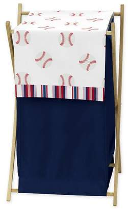 JoJo Designs Sweet Baseball Patch 3 Piece Laundry Hamper Set