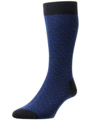 Pantherella Men's Porter Graphic Wool Socks