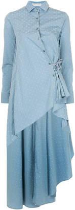 Palmer Harding Palmer / Harding bow detail asymmetric shirt