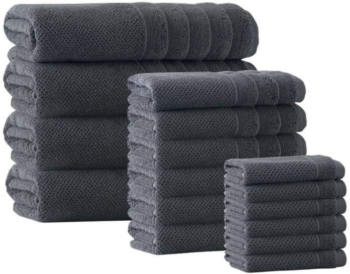 Turko Textile LLC Enchante Home Veta 16-piece Turkish Cotton Bath Towel Set