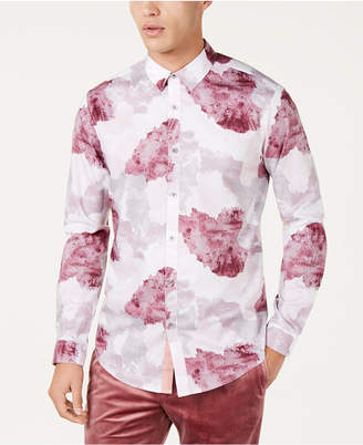 INC International Concepts I.n.c. Men Watercolor Print Shirt