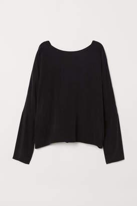 H&M Cupro-blend Blouse - Black