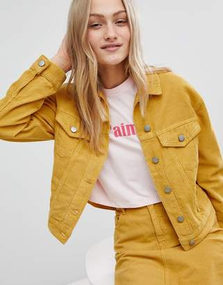 Asos Design DESIGN cord jacket co-ord in mustard